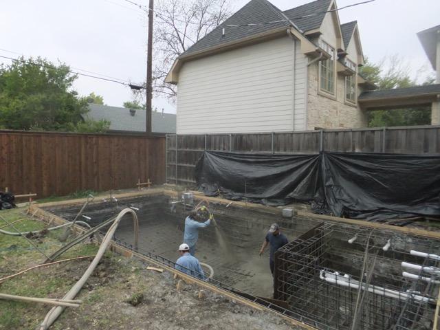 New Swimming Pool Construction Dallas Plano Frisco Texas